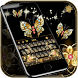 Gold butterfly Keyboard Theme by Locker Themes Center