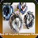 Easy DIY Recycled Newspaper Flower
