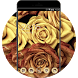 Gold Rose Launcher Theme: Love Wallpaper HD by Cool Theme Workshop