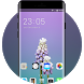 Theme for iPhone X: Purple Flower Icon Packs by cool launcher theme designer