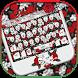 Skull Rose Keyboard theme by Locker Themes Center