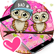 Pink Cute Owl Cartoon Theme by Theme Creative Center