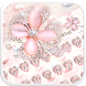Pink Glitter Keyboard by Echo Keyboard Theme