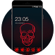 Cool Neon Red Skull Theme for Vivo V5 by Mobo Theme Apps Team