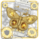 Golden Silver Butterfly by Launcher Fantasy