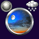 Night Sky Clock And Weather by Compass Clock and Weather