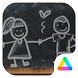 Blackboard Love Graffiti Theme ❤️ by Themes for Android Free