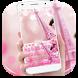 Rose pink paris keyboard by Super Keyboard Theme