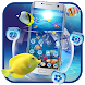 Fish Aquarium Blue Ocean Theme by Me&Art Android Theme Designer