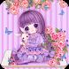 Rose Girl Purple Theme by Cool Theme Love