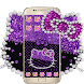 Purple Black Kitty