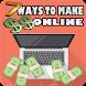 7 Ways To Make Money Online - Easy Ways by RayderTech
