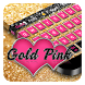 Gold Pink Keyboard by Cool Theme Studio