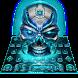 Neon Tech Skull Keyboard by Super Cool Keyboard Theme