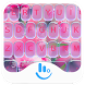 Purple Flower Keyboard Theme by Sexy Free Emoji Keyboard Theme