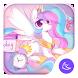 lovely rainbow unicorn-APUS Launcher theme by CoolAppPub