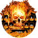 Hellfire Flaming Skull Keyboard Theme by My Lovely Android Themes 2018