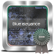 Blue elegance GO SMS by Hex Themes