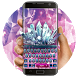 Purple Crystal Keyboard by Bestheme Keyboard Designer 3D &HD