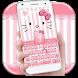 Pink Kitty Bowknot Keyboard