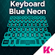 Keyboard Blue Neon by BestKeyboardThemes
