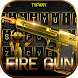 Fire Gun Theme&Emoji Keyboard by Cool Keyboard Theme Design