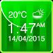 Football Weather Clock Widget by The World of Digital Clocks
