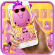 Cute Funny Egg Cartoon Keyboard Theme by My Lovely Android Themes 2018
