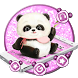 Cute Pink Panda Mobile Theme by Luxury Mobile Themes