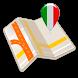 Map islands of Italy offline