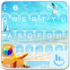 Summer Beach Keyboard Theme by Sexy Free Emoji Keyboard Theme