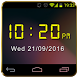 Digital Clock Widget NightMode by 100 Brain Studio