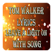 Tom Walker Lyrics Leave A Light On With Song by Cabean Studio