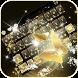 Gold butterfly Keyboard Theme by Fantasy Keyboard studio
