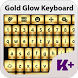 Gold Glow Keyboard Theme by creativekeyboards