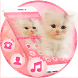 Pink Bowknot Cute Downy Cat Theme by Alice Creative Studio