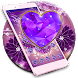 Periwinkle Diamond Heart Theme by Classic Android Themes