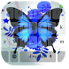 Blue Neon Butterfly Keyboard by beautifulwallpaper