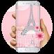 Pink Diamond Paris Love keyboard by Bestheme Keyboard Designer 3D &HD
