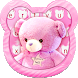 Pink Love Cute Bear Keyboard Theme by Echo Keyboard Theme