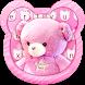 Pink Love Cute Bear Keyboard Theme