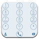 Dialer Circle White Blue Theme by Luklek