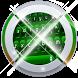 Digital Green Keypad Art by Neon keyboards