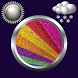 Glitter Clock & Weather Widget by Compass Clock and Weather