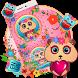 Pink Panda Keyboard Theme by Super Cool Keyboard Theme