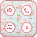 Vintage flower icon Theme by Iconnect Corp