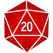 d20 Dice Roller by Rarely Impossible