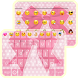 Pink Bowknot emoji keyboard by Kitty Emoji Keyboard Design