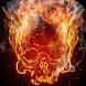 Smoking skull live wallpaper by FlameryHot