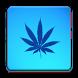 Blue Weed Rasta Keyboard by MZ Development, LLC